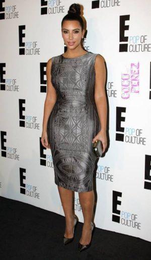 kim kardashian wears bodycon dress