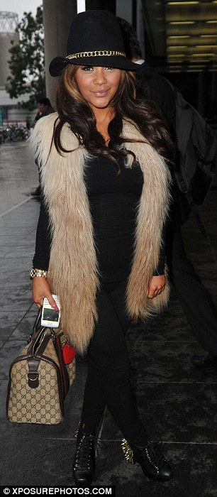 Chelsea Hhealy in fur gilet